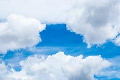 Niebieskie Niebo z Obłoczną Background/teksturą Obraz Royalty Free