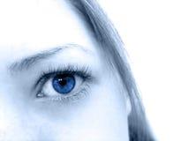 niebieskie oczy Fotografia Royalty Free