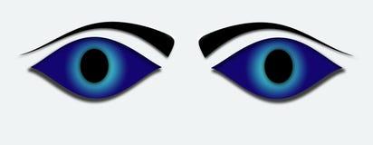 niebieskie oczy Zdjęcia Royalty Free