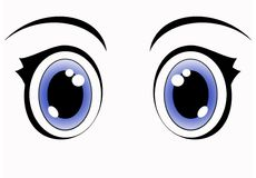 niebieskie oczy anime Zdjęcia Stock