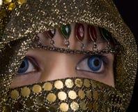 niebieskie oczy Orient obraz stock