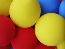 niebieskie oczy, piaskowe balony Fotografia Stock