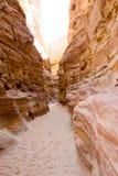 niebieskie oczy, piaskowe kanionu Fotografia Royalty Free