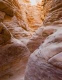 niebieskie oczy, piaskowe kanionu Obraz Royalty Free