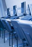 niebieskie odcieni miejsca pracy Obraz Royalty Free