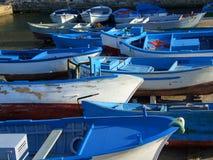 niebieskie łodzi Fotografia Royalty Free