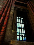 niebieskie okno Zdjęcia Stock
