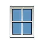 niebieskie okno ilustracja wektor