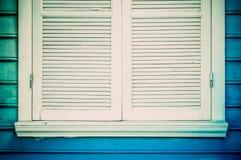niebieskie okno Fotografia Stock
