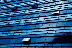 niebieskie okno biurowe Fotografia Stock