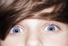 Niebieskie oko chłopiec Obraz Stock