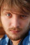 niebieskie oko facet Zdjęcia Royalty Free