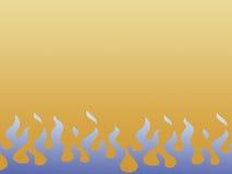 niebieskie płomienie Zdjęcie Royalty Free
