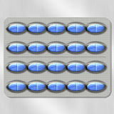 niebieskie pigułki Obrazy Stock