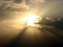 niebieskie słońce Zdjęcia Stock