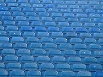 niebieskie siedzenia fotografia stock