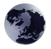 niebieskie szkło globe podcieniowanie Zdjęcie Royalty Free