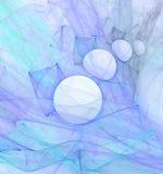 niebieskie tło interesów kręgów Obrazy Royalty Free