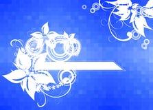 niebieskie tło nieciekawą kwiaty royalty ilustracja