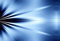 niebieskie tło promieni świetlnych Obraz Royalty Free