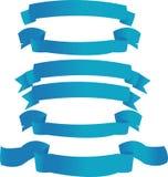 niebieskie transparenty Zdjęcia Stock