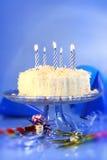 niebieskie urodzinowi świętowania Obrazy Royalty Free