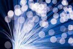 niebieskie włókna światłowodowe Fotografia Royalty Free
