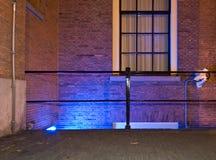 niebieskie wejście kamery włączone Obrazy Stock