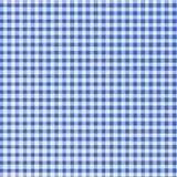 niebieskie światło gingham Zdjęcia Stock