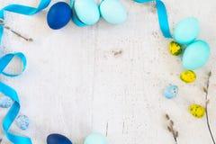 niebieskie Wielkanoc jaj Obrazy Royalty Free