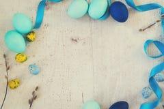niebieskie Wielkanoc jaj Obrazy Stock
