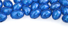 niebieskie Wielkanoc jajka białe Obrazy Stock