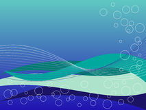 niebieskie zielone fale Obraz Stock