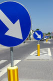 niebieskie znaki Zdjęcia Stock