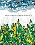 Niebieskiego nieba i ulistnienia rośliny, Fotografia Royalty Free