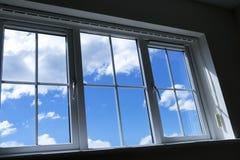 niebieskiego nieba okno Obraz Stock