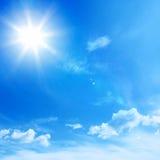 Niebieskiego nieba tło Fotografia Royalty Free