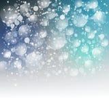 Niebieskiego nieba tło z śniegiem dla twój teksta Obraz Stock