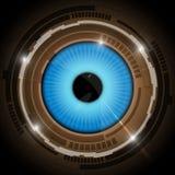 Niebieskiego oka tło Zdjęcie Stock