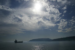 Niebla 03 del transporte del petróleo del cargo de la nave Imagen de archivo