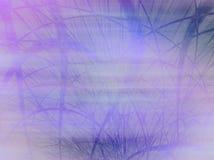 Niebla azul brumosa con la hierba Imágenes de archivo libres de regalías