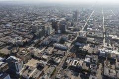 Niebla con humo del verano de Los Ángeles del bulevar de Wilshire Imagen de archivo