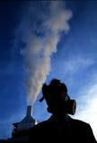 Niebla con humo en el cielo Imagen de archivo libre de regalías