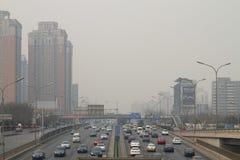 Niebla con humo en Pekín Imagen de archivo