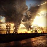 Niebla con humo industrial fotos de archivo libres de regalías