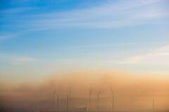 Niebla con humo sobre la planta Foto de archivo