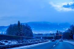 Niebla de la carretera Fotografía de archivo libre de regalías