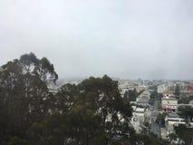 Niebla de la ciudad imágenes de archivo libres de regalías