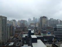 Niebla de la ciudad Fotografía de archivo libre de regalías