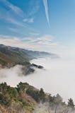 Niebla de la costa de California Fotos de archivo